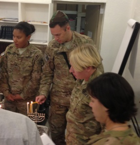 Michael Levin Celebrates Chanukah in Afghanistan