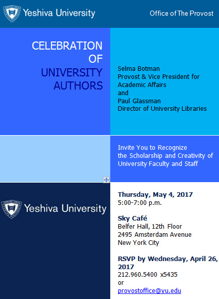 Celebration of University Authors