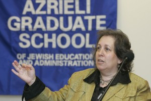 Dr. Rona Novick, associate professor at Azrieli Graduate School of Jewish Education and Administration