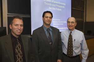 From left, Prof. Daniel Laufer, Yair Shiran and Dean Michael Ginzberg