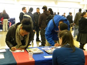 A College EDge event in April drew more than more than 70 local public high school students.