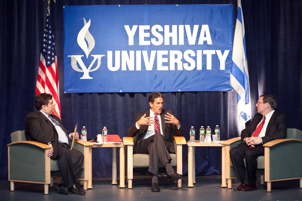 From left, Daves, Rubin and Sanger discuss Mideast turmoil