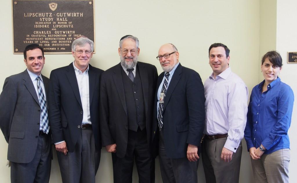 Dr. Hidary, Dr. Fraade, Dr. Schiffman, Dr. Bernstein, Mr. Zachter and Dr. Frisch.