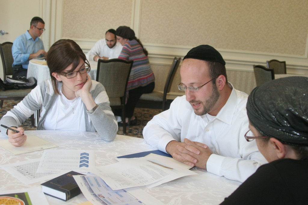 Danielle Grajower and Rabbi Daniel Schwechter design a differentiated lesson plan