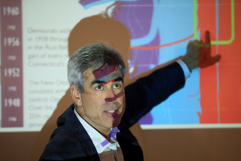 NYU Professor Jonathan Haidt  speaks about how morality varies across cultures, religions and political groups at Belfer Hall on the WILF, men's campus on August 27,  2014. The lecture was a partnership between the Honors Program and the Psychology Department.