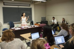 Dr. Jill Becker Feigeles, an adjunct professor at Wurzweiler, teaches Block Program students during the intensive summer sessions in New York.