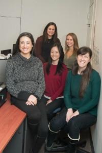 From left: Melissa Shuman-Paretsky, Janna Belser-Ehrlich, Jennifer Yuan, Elyssa Scharaga and Sarah England