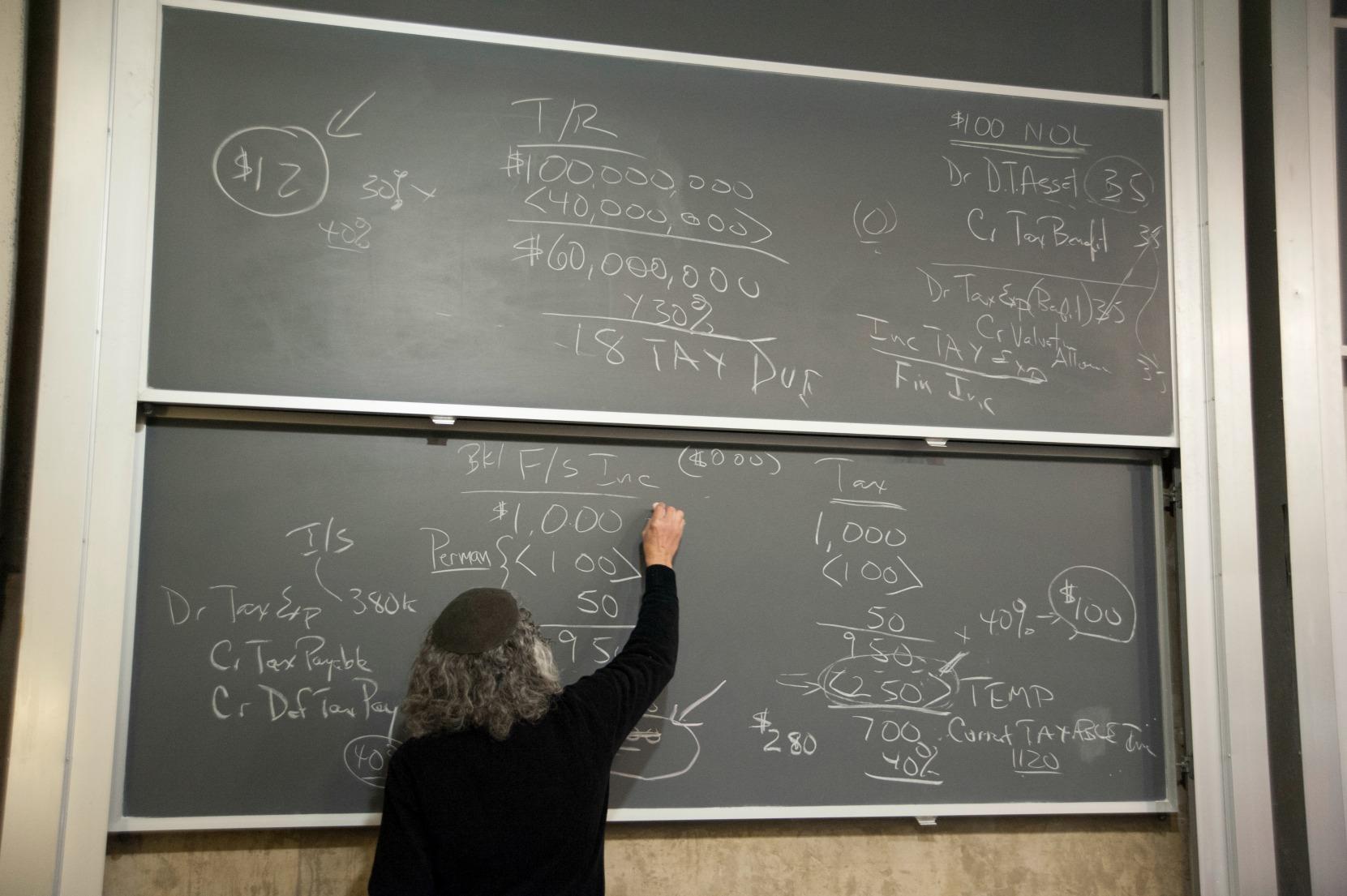 Professor Leonard Fuld teaches the Federal Income Taxation I course in the master's program.