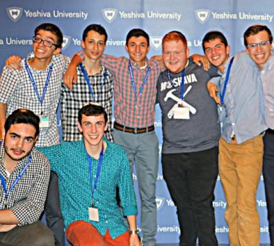 "Students from the Marsha Stern Talmudical Academy/Yeshiva University High School for Boys at ""A Taste of YU"""