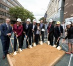 Groundbreaking ceremony for the 185th Street Plaza