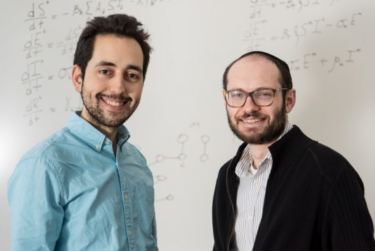 Daniel Goldsmith and Josh Blau are researching the spread of the Zika virus