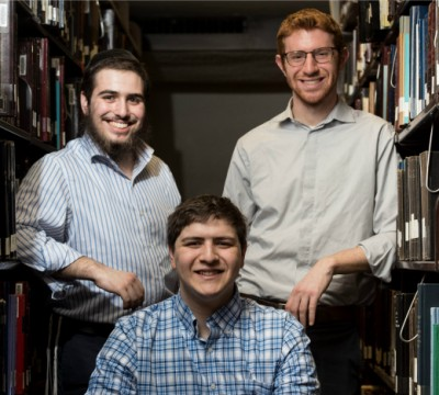 Three students who were involved in the Princeton Judaics Conference