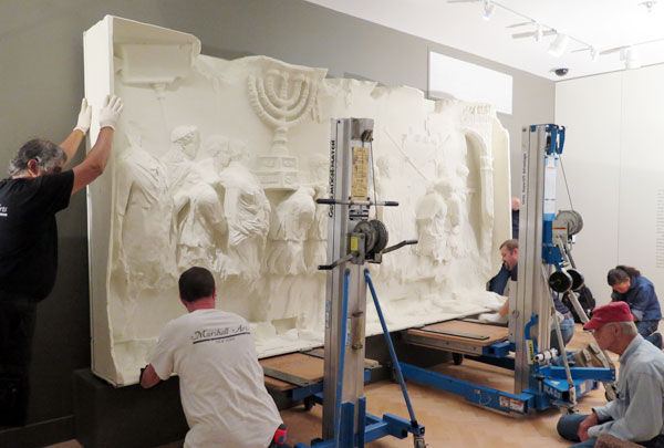 Installation of the Arch of Titus facsimile
