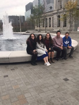 Torah Tours participants in Montreal, Quebec