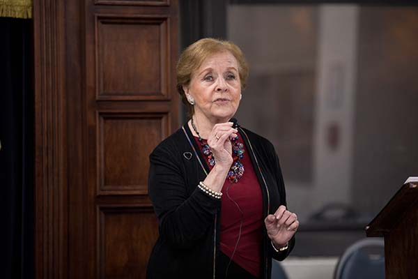Holocaust survivor Marion Lazan