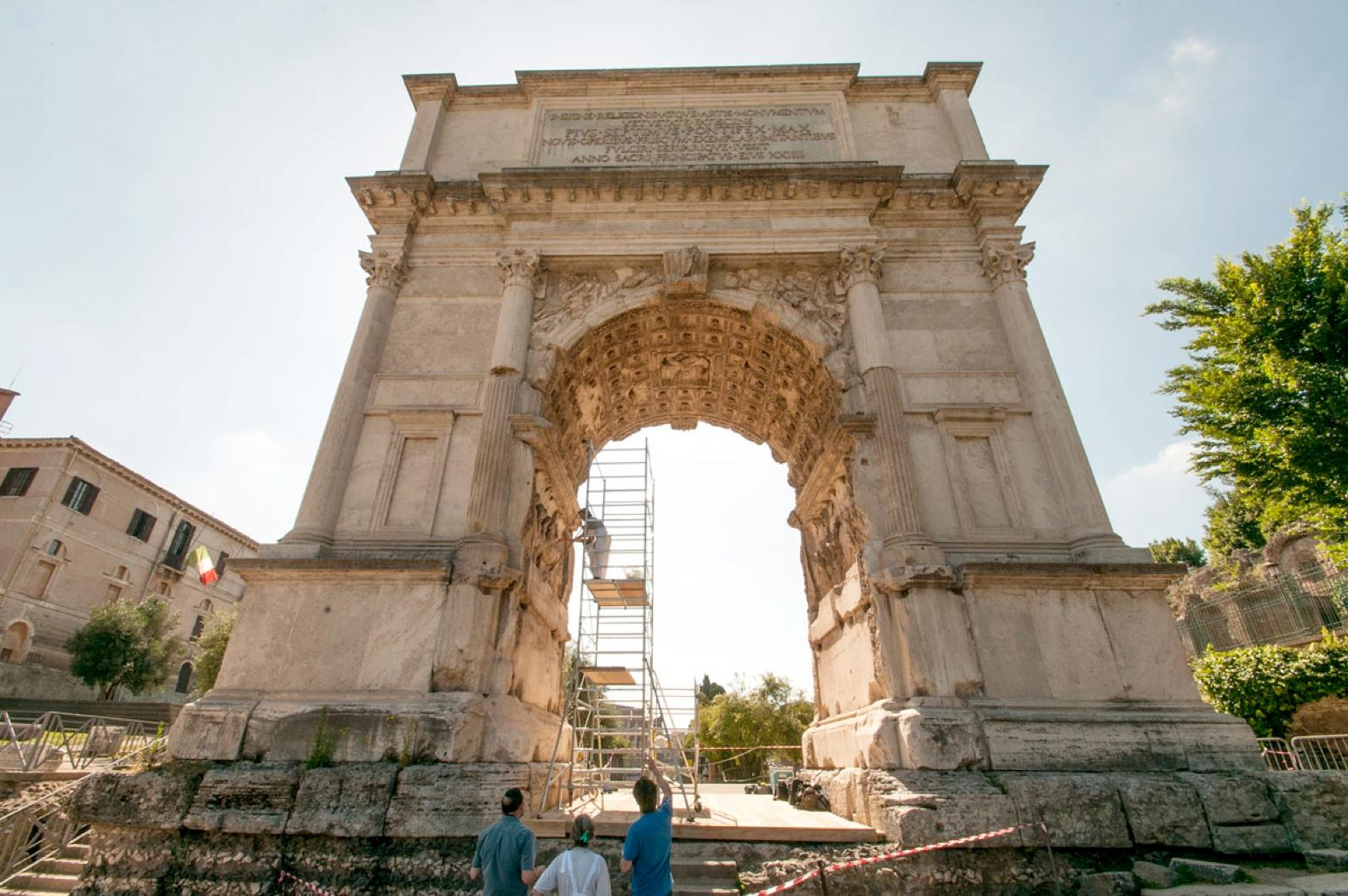 yeshiva university team discovers the arch of titus