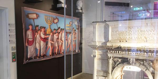 Arch of Titus on display in the Archäologisches Museum der Universität Münster