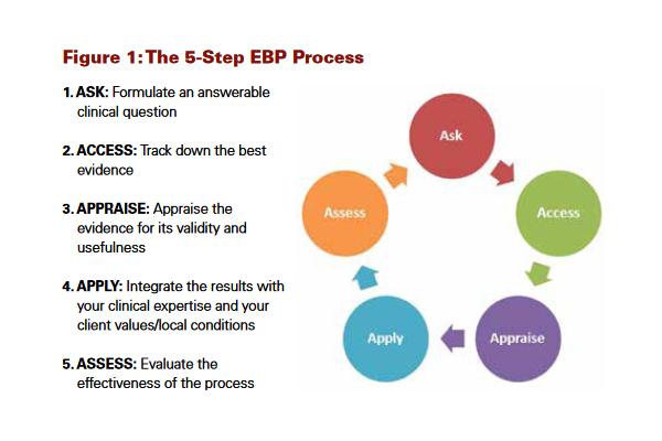Figure 1 - the 5 Step EBP Process