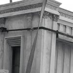 Picture of a temple remnant from the cover of Contextualizing Jewish Temples by Dr. Shalom Holtz