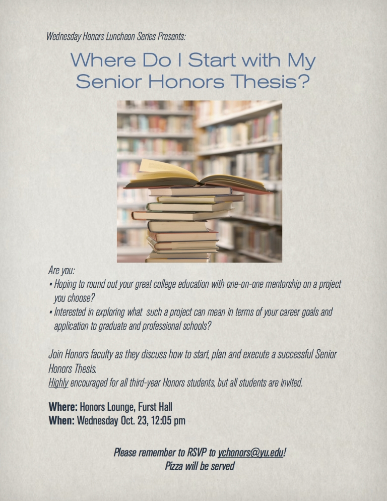 Honors Thesis 2013 Flyer - blog