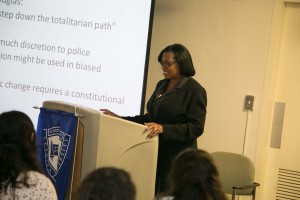Dr. Delores Jones-Brown, professor at John Jay College of Criminal Justice, City University of New York