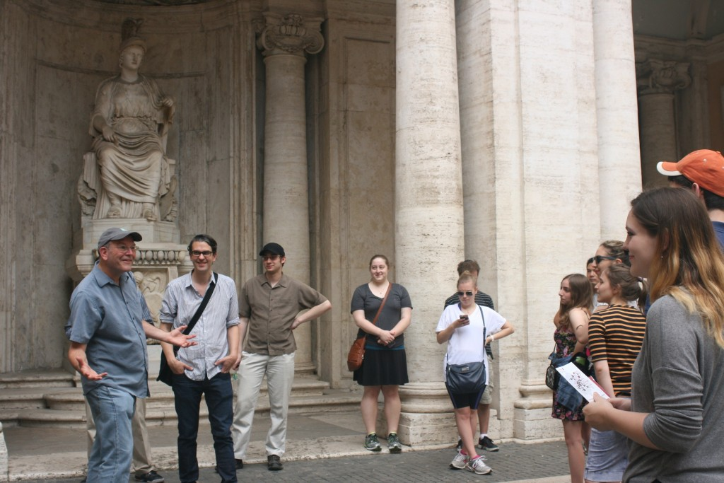 Day 2: Prof. Steven Fine and Prof. Marnin Young with students at the Capitoline Museums
