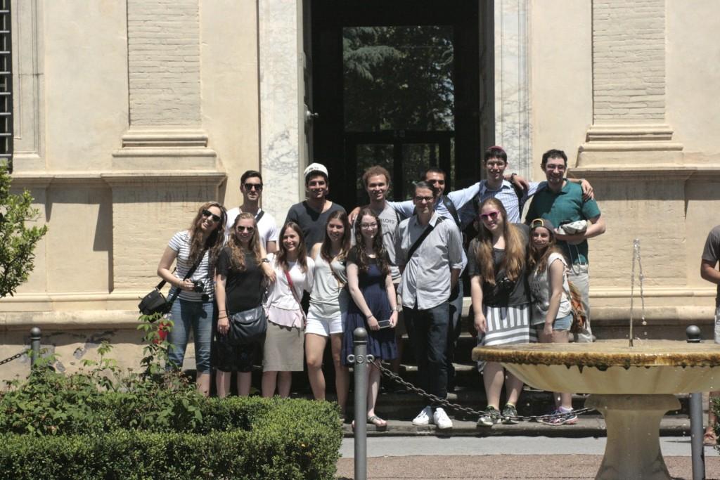 Our group outside the Villa Farnesina