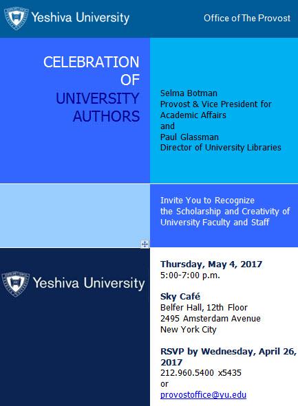 Celebration of University Authors