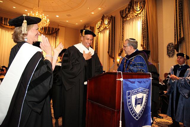 Newark Mayor Cory Booker at YU's Hanukkah Dinner and Convocation