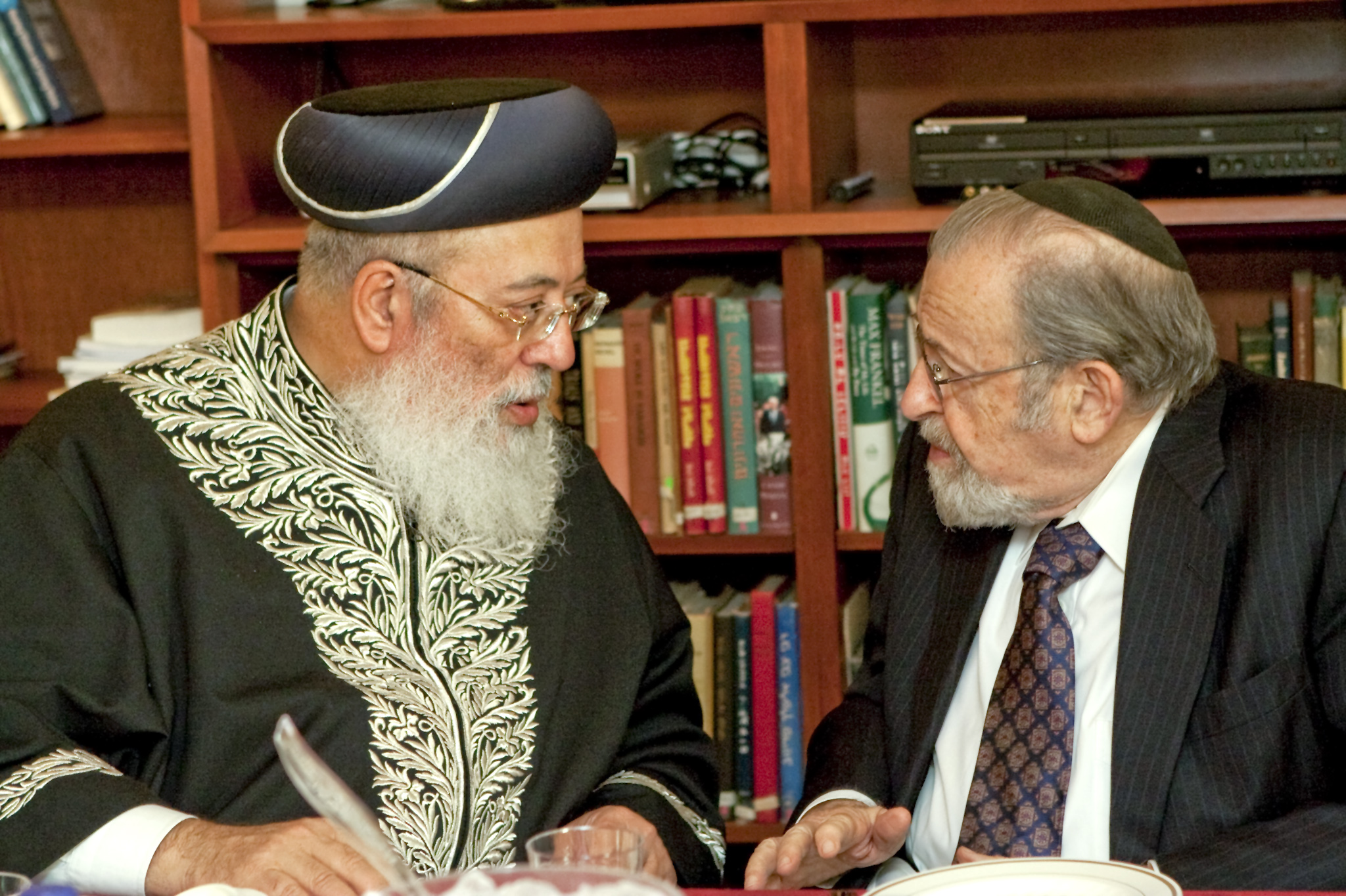 Rabbi Amar and Chancellor Rabbi Dr. Norman Lamm