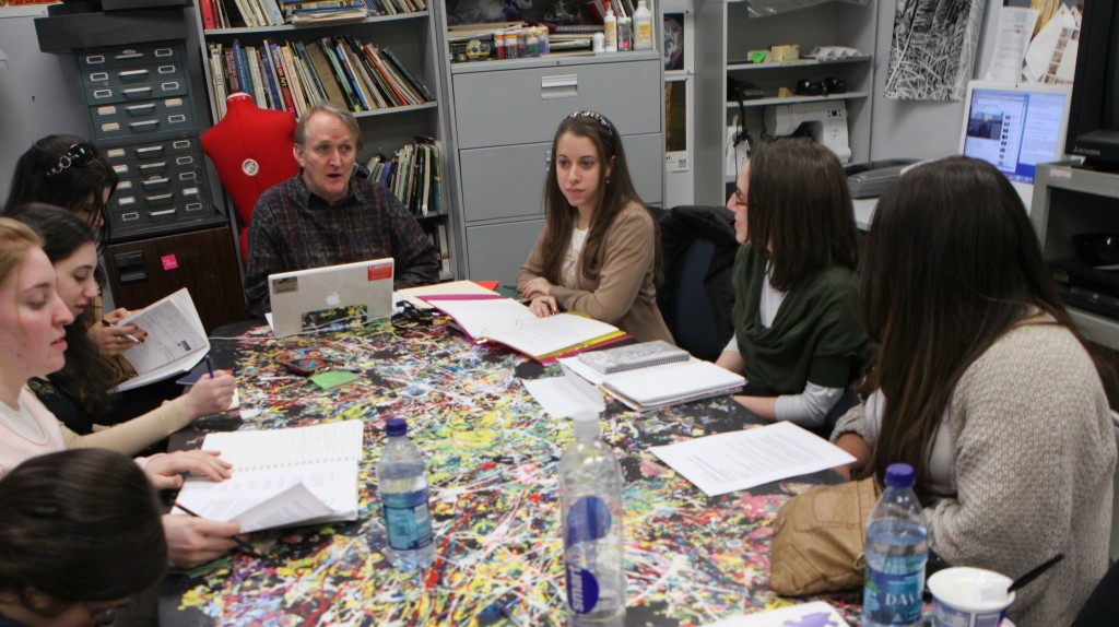 Mendes' (center) new course guides students through a journey of self-exploration.