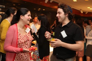 Hadassah Rubinstein, '08-'09 fellow in the Office of the President, catches up with Ephraim Shoshani, who served as the '09-'10 fellow in the Office of Communications and Public Affairs.