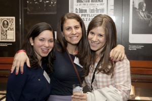 Former fellows Penny Pazornick, Aviva Miller and Esther Goldstein.