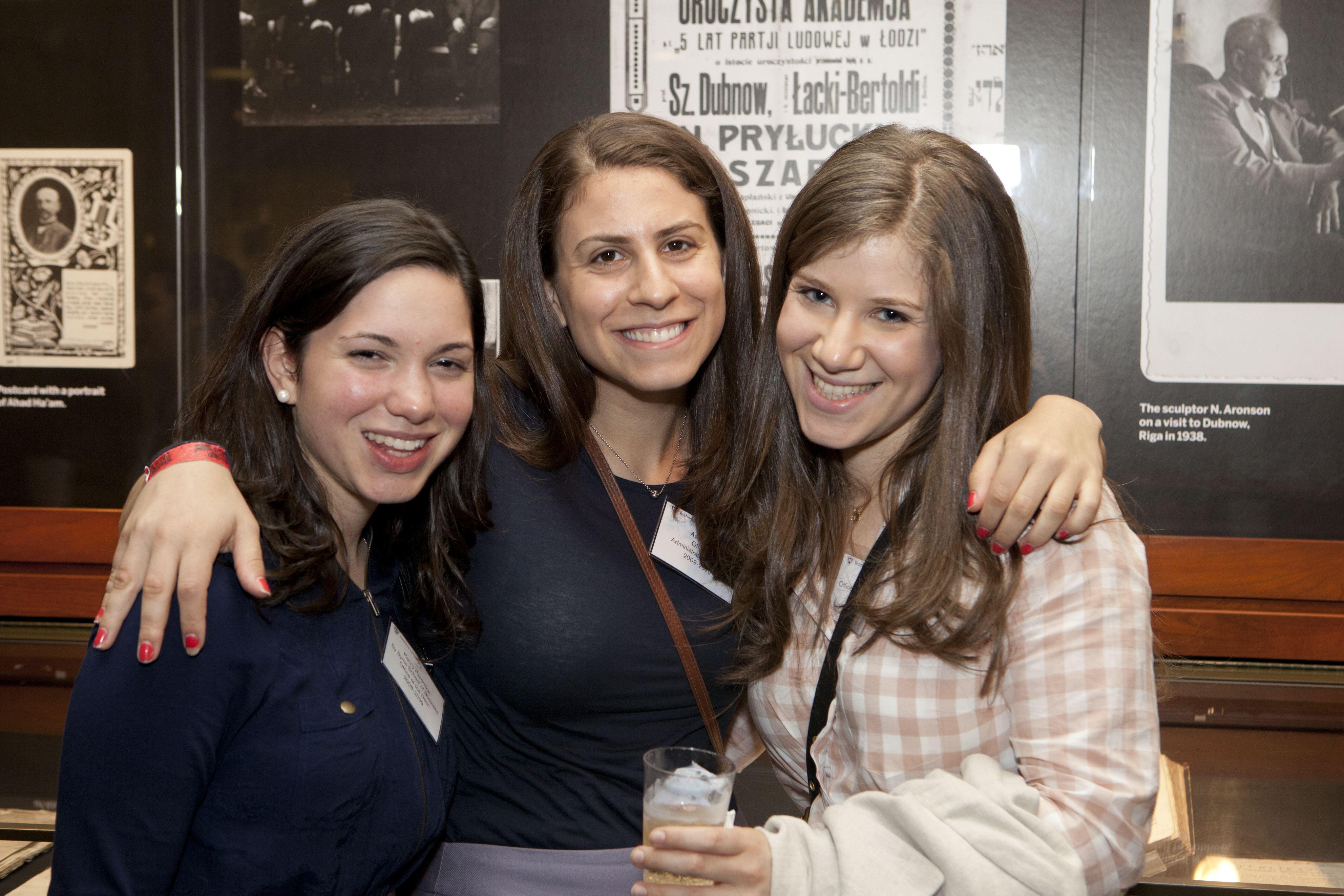 Former fellows Penny Pazornick, Aviva Miller and Esther Goldstein.