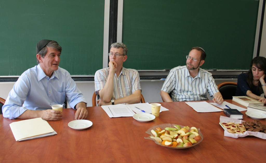Cohen, second from right, along with members of the IAS research group