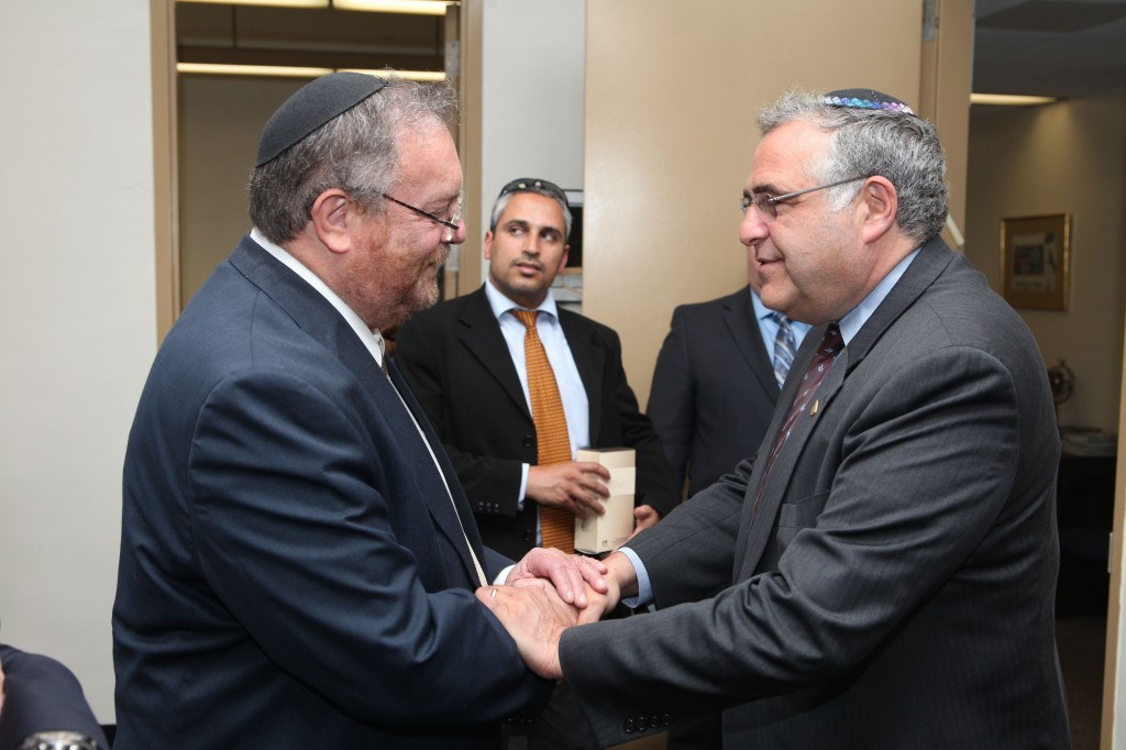 Minister Hershkowitz meets with President Joel