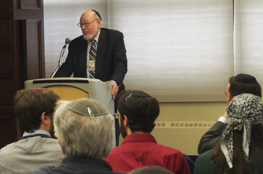 Dr. Moshe Bernstein offers opening remarks at YU's inaugural Dead Sea Scrolls Conference.