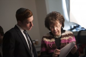 Tova Rosenberg works with YUHS students to interview Holocaust survivors