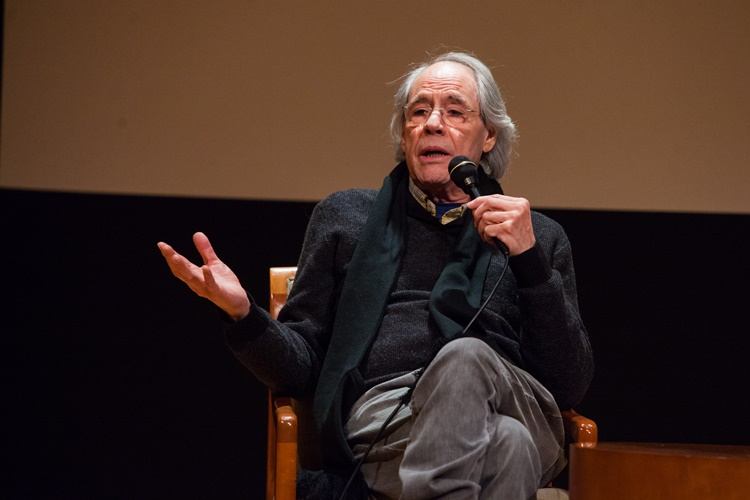 February 2, 2015 Q&A with Robert Klein (Actor, left), Lawrence Richards who conceived and wrote this film as well as a produced it and Mevlut Akkaya (Director, Producer of the film) following screening of the movie When Comedy Went to School at Yeshiva University Museum at 15 West 16th street.