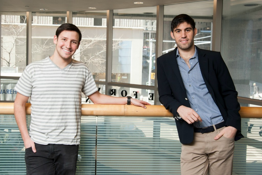 Gabriel Simkin, left, and Daniel Benchimol, right, are student entrepreneurs whose startups received grants from Neal's Fund.