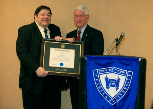 Professor Joel Hochman, left, with BGS Secrety and Treasurer Bernard Milano