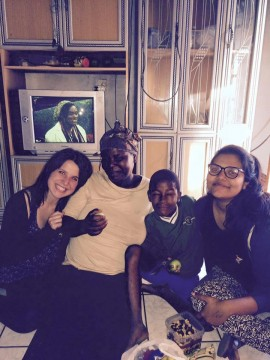 Ariella Applebaum, left, made many in-home visits to patients during her volunteer work with African Impact.