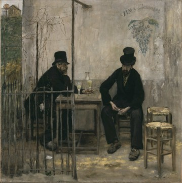"""Absinthe Drinkers,"" by Raffaelli, 1881, a later Realist painting"