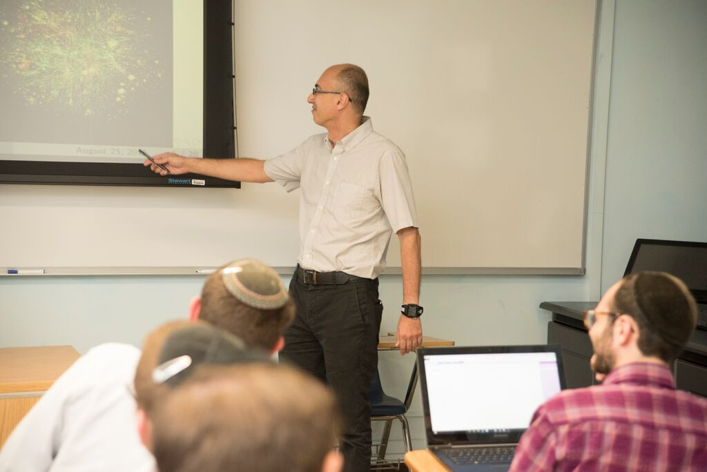 Professor Marian Gidea in his Network Science class