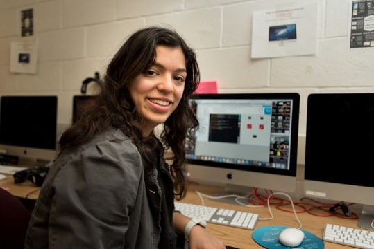 Lior Pirouzian, a senior at SWHSG who came from a public school. She is interested in computer science and participated in Girls Who Code