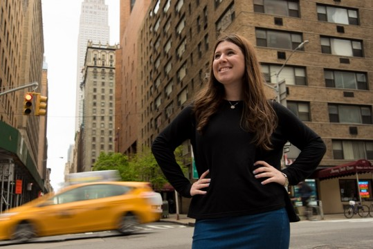 Portrait of Rachel Rolnick, a gradauting student in Stern College who was accepted into many Law SSchools, including Yale.