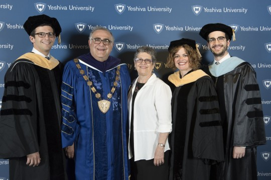 President Joel and his wife Esther, with their children Avery, Penny and Noam.