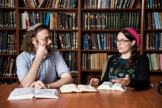 YU alumni Yair Shahak, left, and Yaelle Frohlich are the first married couple to compete against each other in the International Chidon HaTanach.