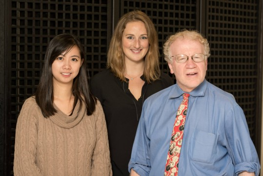 From left to right: Michelle Chen, Cait Sleight and Dr. William Salton