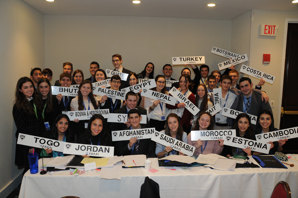 Students at last year's conference tackled complex global issues from the perspectives of a wide range of countries.
